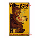 National Park Bear Custom Sign