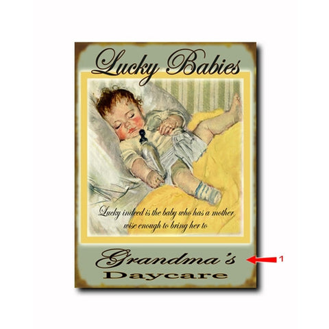 Lucky Babies - Yellow Custom Sign
