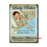 Lucky Babies - Blue Custom Sign