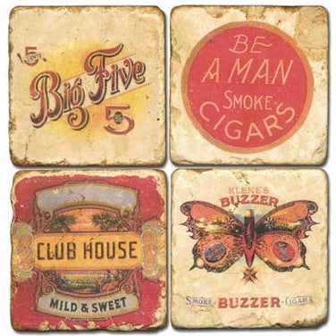 Cigar Label Drink Coasters