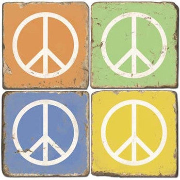 Peace Sign Drink Coasters