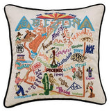 State of Arizona Hand-Embroidered Pillow