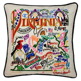 State of Virginia Hand-Embroidered Pillow