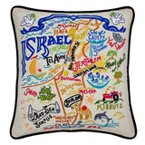 Israel Hand-Embroidered Pillow