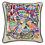 Houston Hand-Embroidered Pillow