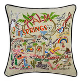Palm Springs Hand-Embroidered Pillow