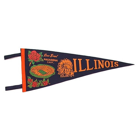 Illinois 1964 Rose Bowl Pennant