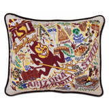Arizona State University Collegiate Embroidered Pillow