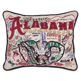 University of Alabama Collegiate Embroidered Pillow