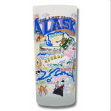 State of Alaska Frosted Glass Tumbler