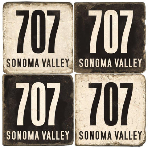 Sonoma Valley Area Code 707 Drink Coasters