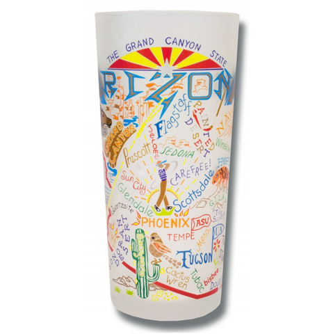 State of Arizona Frosted Glass Tumbler