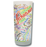 State of Arkansas Frosted Glass Tumbler
