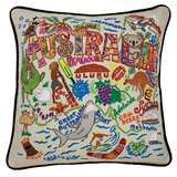 Australia Hand-Embroidered Pillow