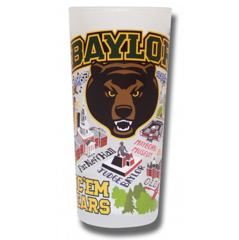 Baylor University Collegiate Frosted Glass Tumbler