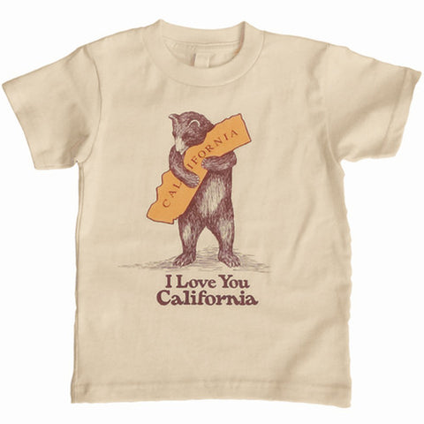 Bear Hugging, I Love You California Kids T-Shirt