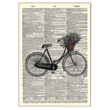 Bicycle With Flowers Wood Sign
