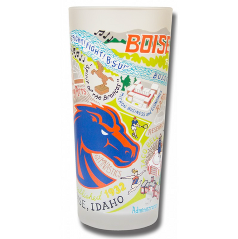 Boise State Collegiate Frosted Glass Tumbler