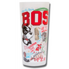 Boston University Collegiate Frosted Glass Tumbler