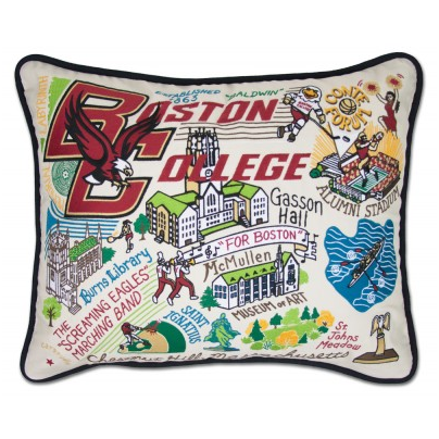 Boston College Collegiate Embroidered Pillow