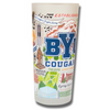 Brigham Young University Collegiate Frosted Glass Tumbler