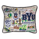 Brigham Young University Collegiate Embroidered Pillow