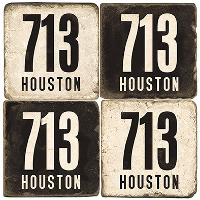 Houston Area Code 713 Drink Coasters