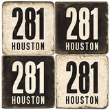 Houston Area Code 281 Drink Coasters