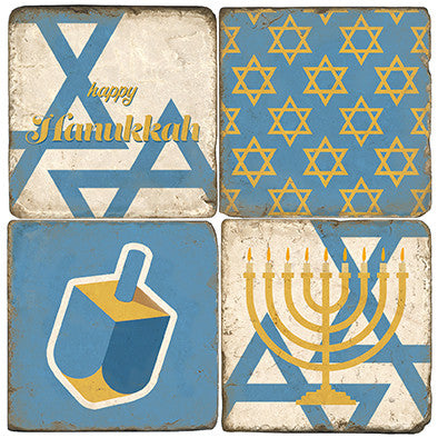Happy Hanukkah Drink Coasters