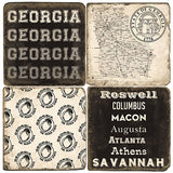 Georgia B&W Drink Coasters