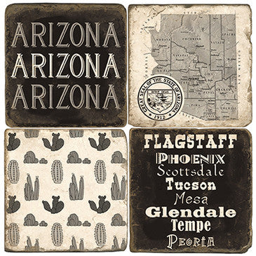 Arizona B&W Drink Coasters