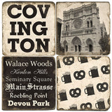 Covington B&W Drink Coasters