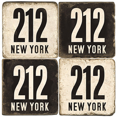 New York Area Code 212 Drink Coasters