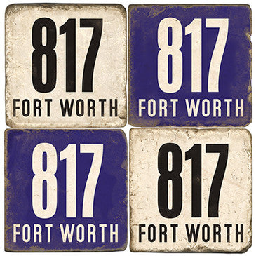 Fort Worth Area Code 817 Drink Coasters