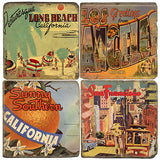 Vintage California Drink Coasters
