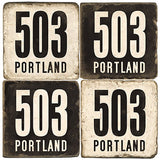 Portland Area Code 503 Drink Coasters