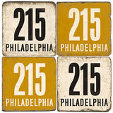 Philadlephia Area Code 215 Drink Coasters