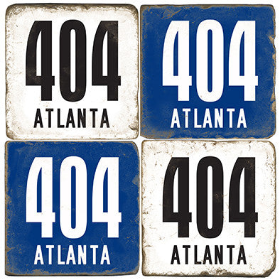 Atlanta Area Code 404 Drink Coasters