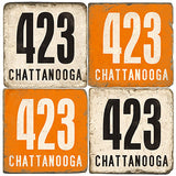 Chattanooga Area Code 423 Drink Coasters