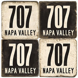 Napa Valley Area Code 707 Drink Coasters