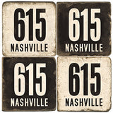 Nashville Area Code 615 Drink Coasters