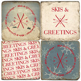Skis & Greetings Drink Coasters