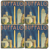 Buffalo Drink Coasters