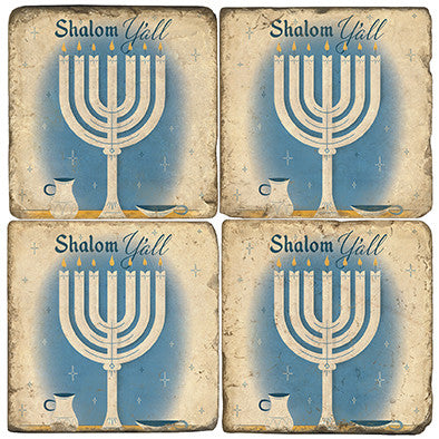 Shalom Y'All Drink Coasters