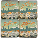 SF Painted Ladies Drink Coasters
