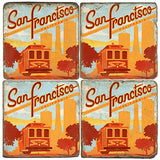 San Francisco Cable Car Drink Coasters
