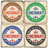 Cincinnati King of Beer Drink Coasters