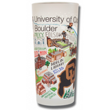 Boulder, University of Colorado Collegiate Frosted Glass Tumbler