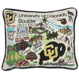University of Colorado Collegiate Embroidered Pillow