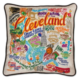 Cleveland Hand-Embroidered Pillow